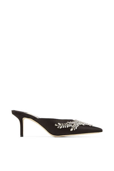 Rav 65 Crystal-Embroidered Satin Mules
