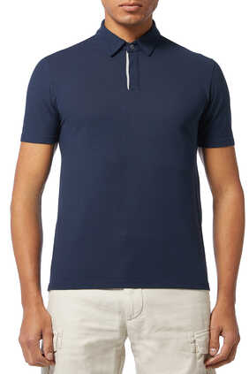 Contrast Ice Cotton Polo Shirt