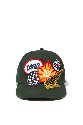 Multi-Patch Baseball Cap