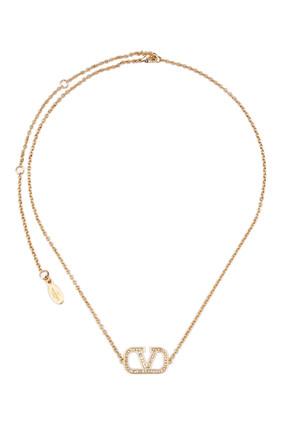 VLogo Pendant Necklace