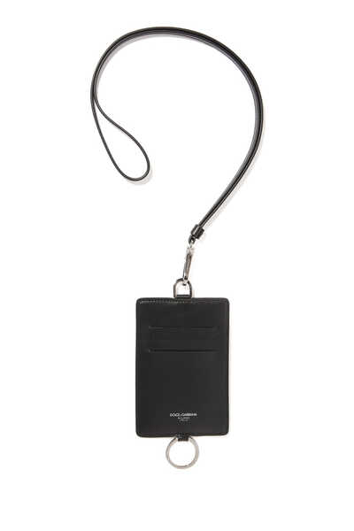 Leather Lanyard Card Holder