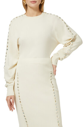 Thallo Embellished Sweater