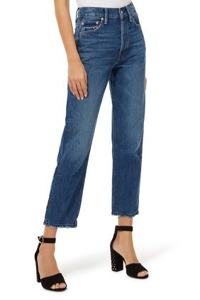 Polly High Waist Straight Jeans