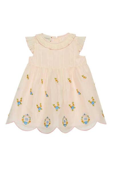 Embroidered Silk Organza Dress