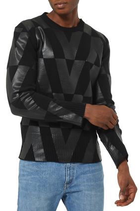 Macro Optical Valentino Print Sweater