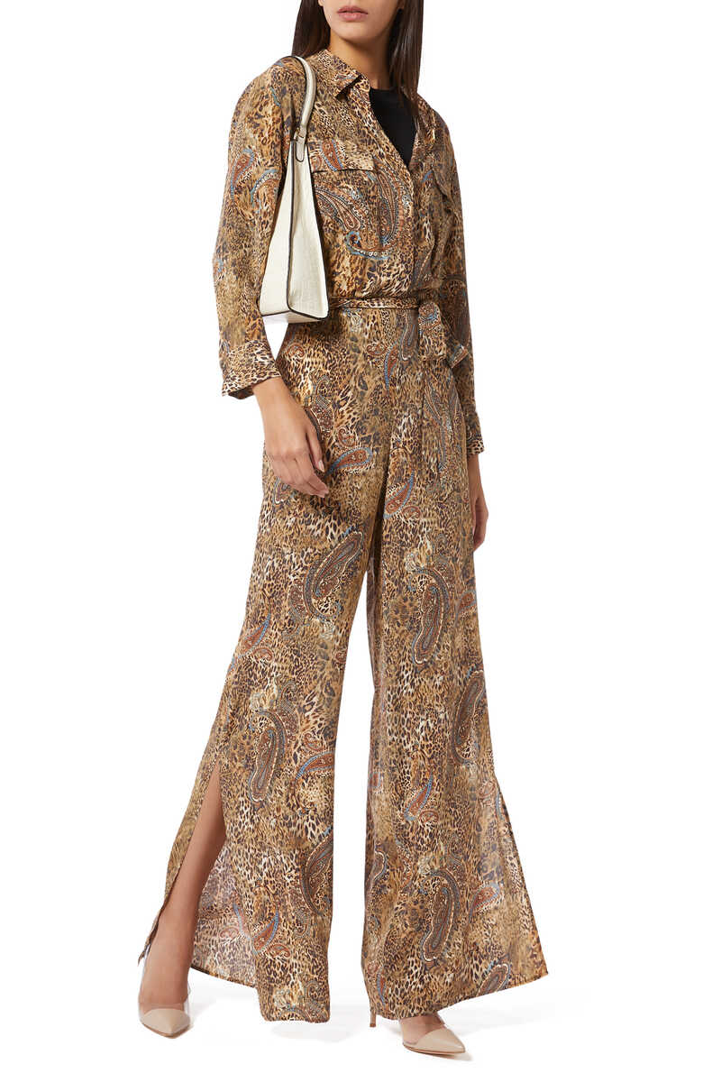 Teddy Leopard and Paisley Print Jumpsuit image number 2