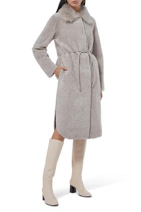 Shearling Shirttail Coat