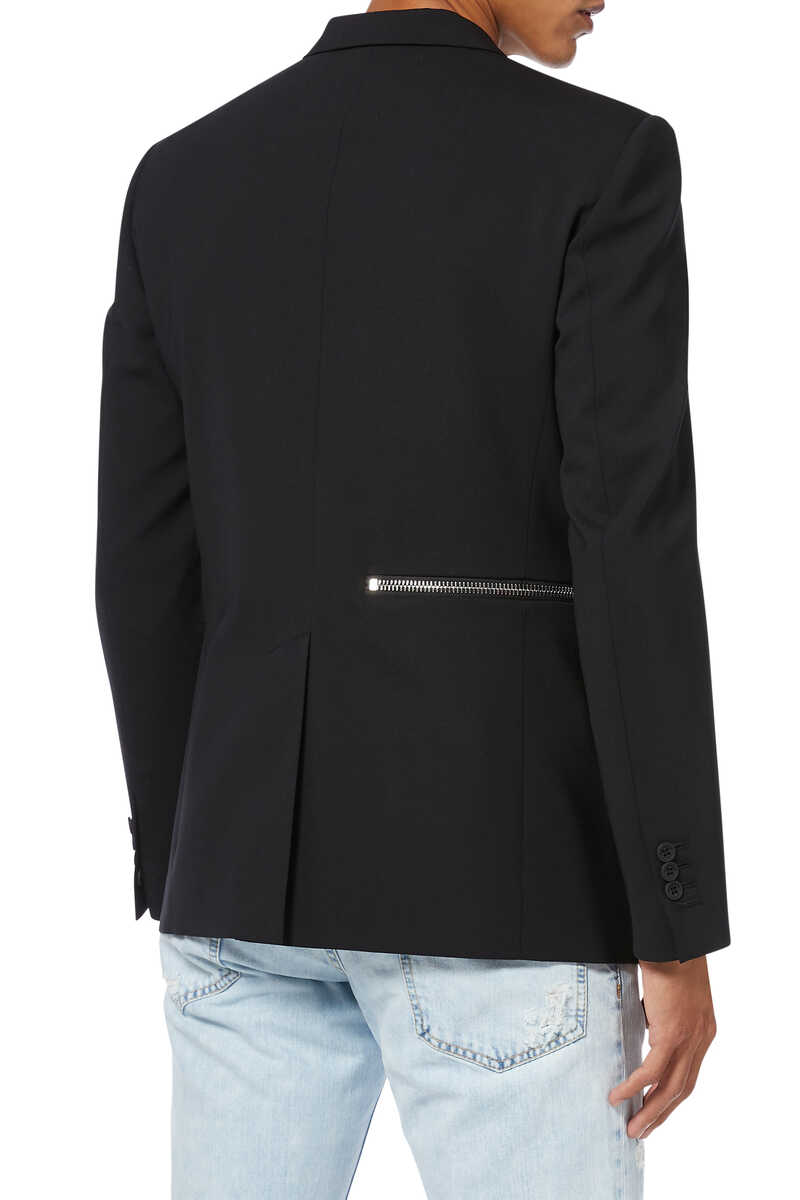 Zip Detail Slim Fit Jacket image number 2