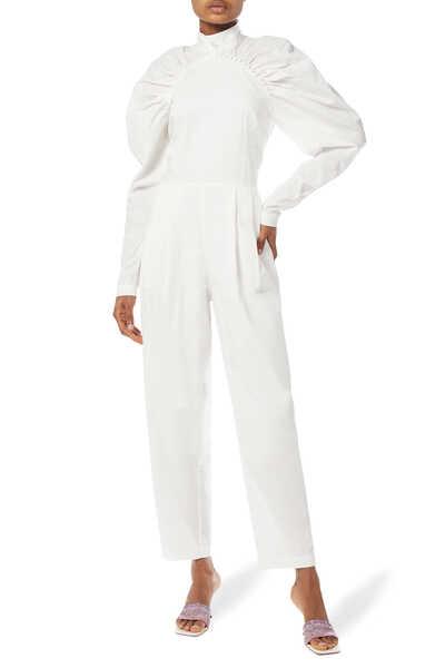 Kim Puff-Sleeve Pantsuit