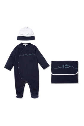 My First Armani Bodysuit, Hat and Bib Set