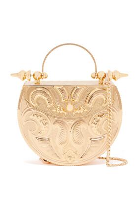 Oval Minaudière Brass Bag