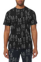 Characters Sketch Print T-Shirt