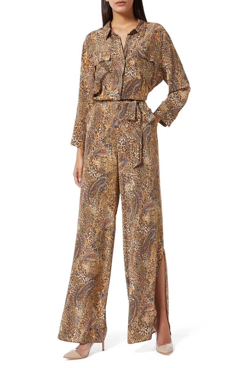 Teddy Leopard and Paisley Print Jumpsuit image number 1