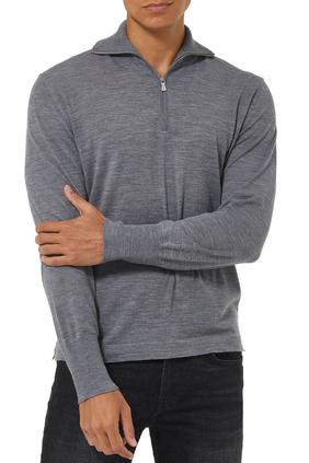 Fine Knit Half Zip Sweater