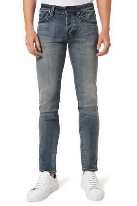Jean Lou Slim Biker Jeans