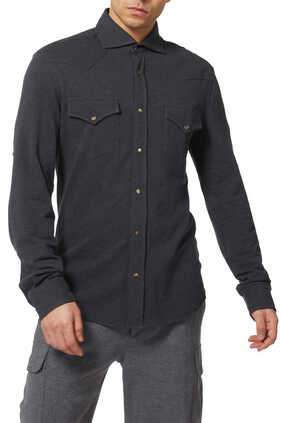 Cotton Pique Western Leisure Shirt