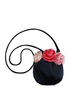 Floral Appliqué Shoulder Bag