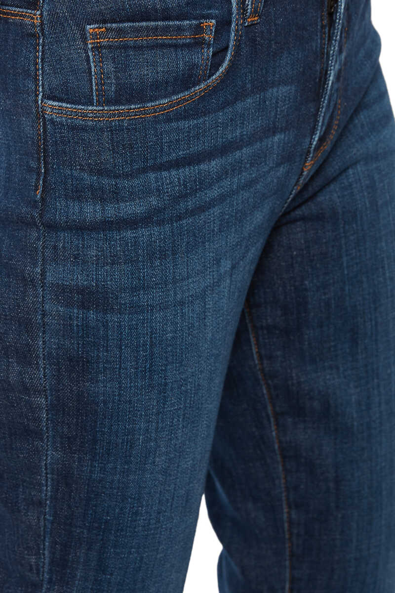 Luna High Rise Straight Jeans image number 4