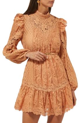 Concert Textured Lace Dress