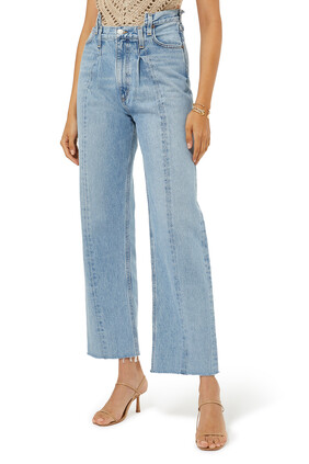 Pieced Angled Jeans