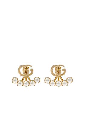 Pearl Double G Earrings