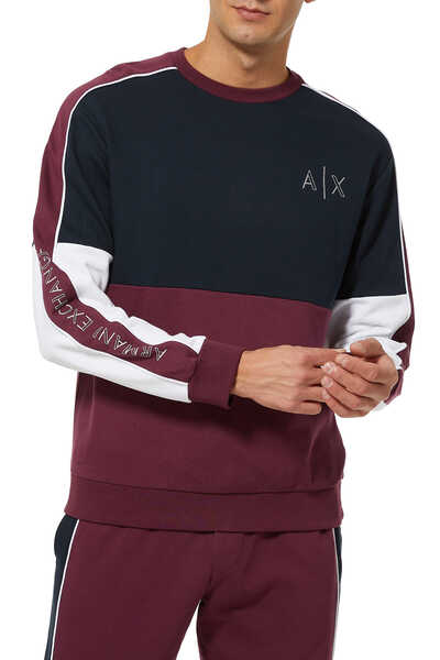 AX Contrast Piping Sweatshirt