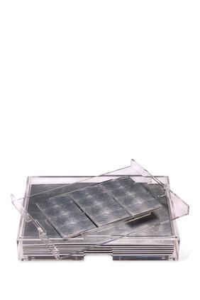 Grand Matbox Clear Silver Leaf