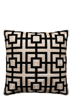Embroidered Square Cushion