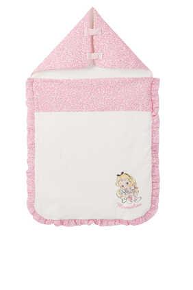 Alice Print Ruffled Sleeping Bag