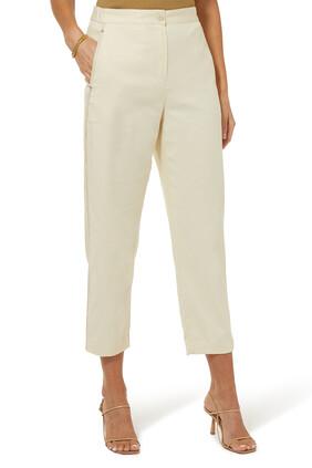 Drape Cotton Twill Curve Pants