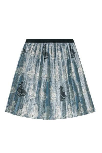 Duck Pleated Skirt
