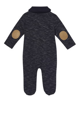 Knitted Collar Sleepsuit