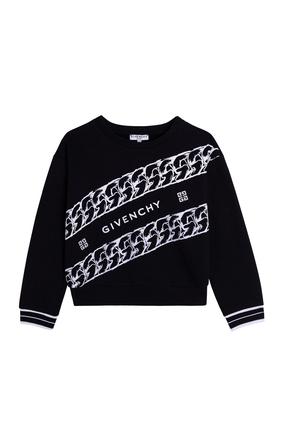 Chain Print Sweatshirt