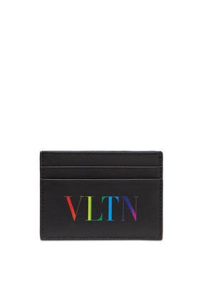 Valentino Garavani VLTN Leather Card Holder