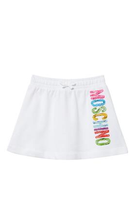Multi Color Logo Print Skirt