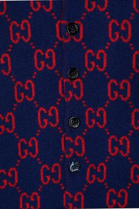 GG Intarsia Wool Sleepsuit