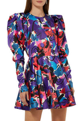 Pauline Paint Print Dress