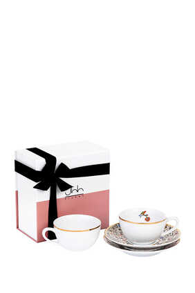 Majestic Porcelain Teacups Gift Box of Two