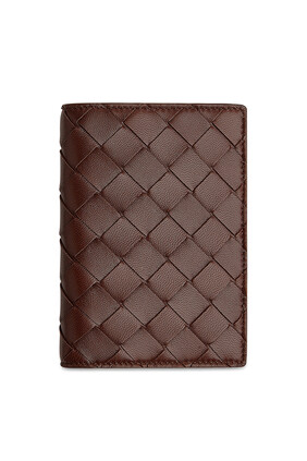 Intrecciato Leather Passport Case