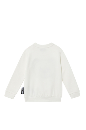 Teddy Embroidery Cotton Sweatshirt