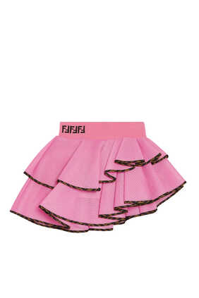 FF Logo Asymmetrical Ruffled Skirt