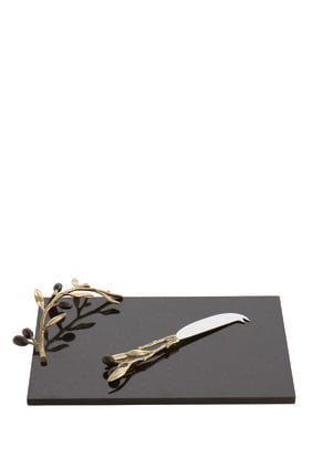 Olive Branch Cheese Board with Knife