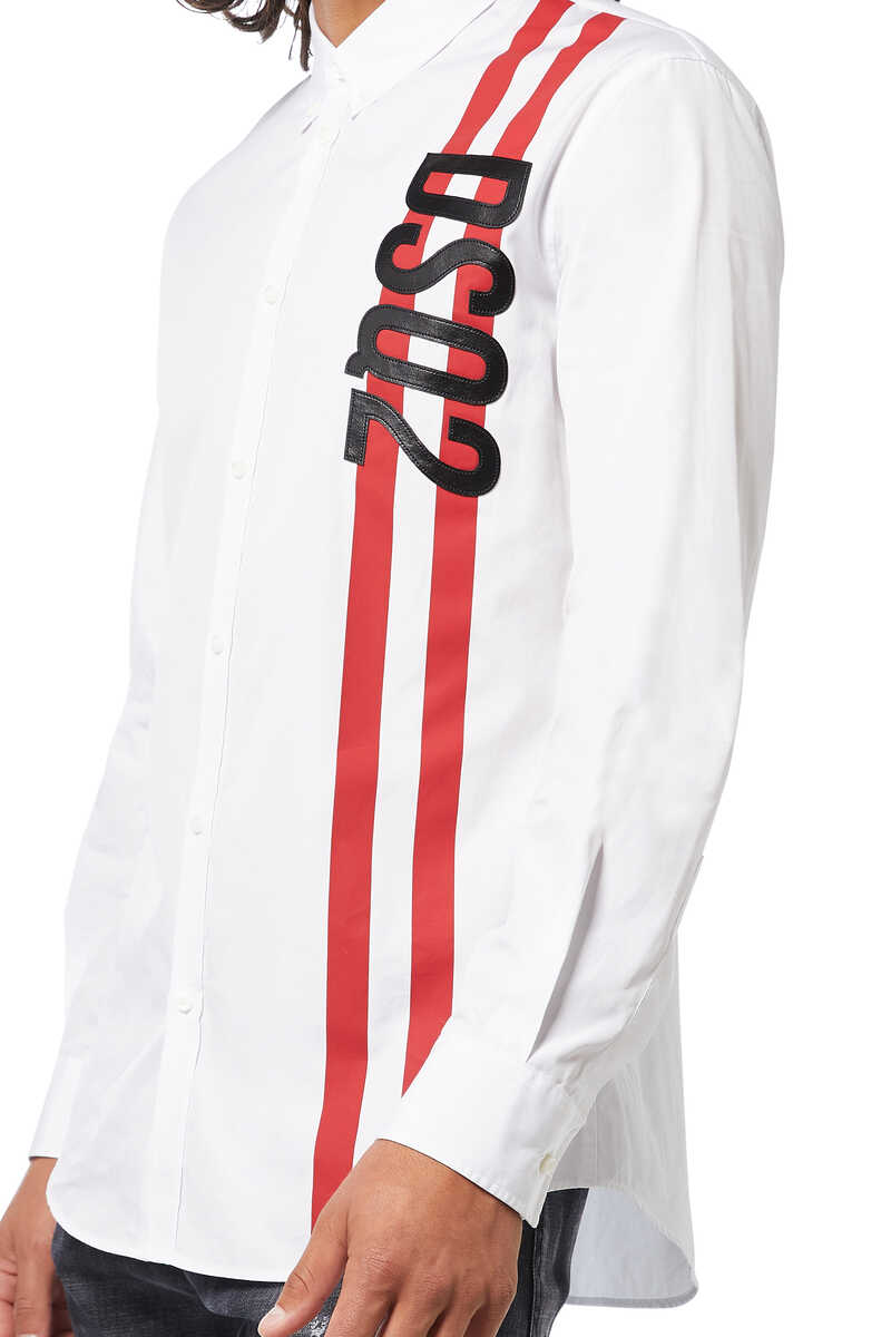 Poplin DSQ2 Sport Stripe Shirt image number 4