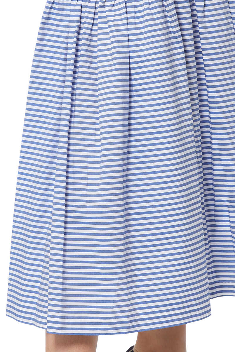 Orchid Striped Cotton Skirt image number 4
