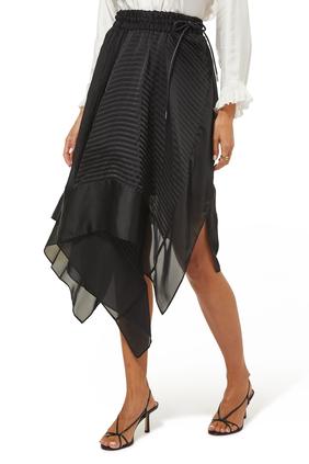 Satin Skirt:BLK:2