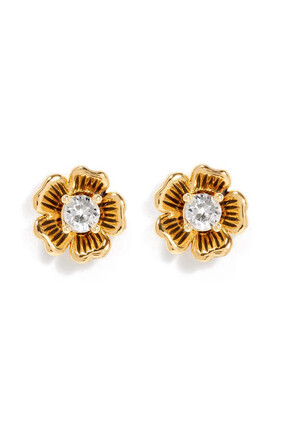 Mini Tea Rose 2-in-1 Stud Earrings