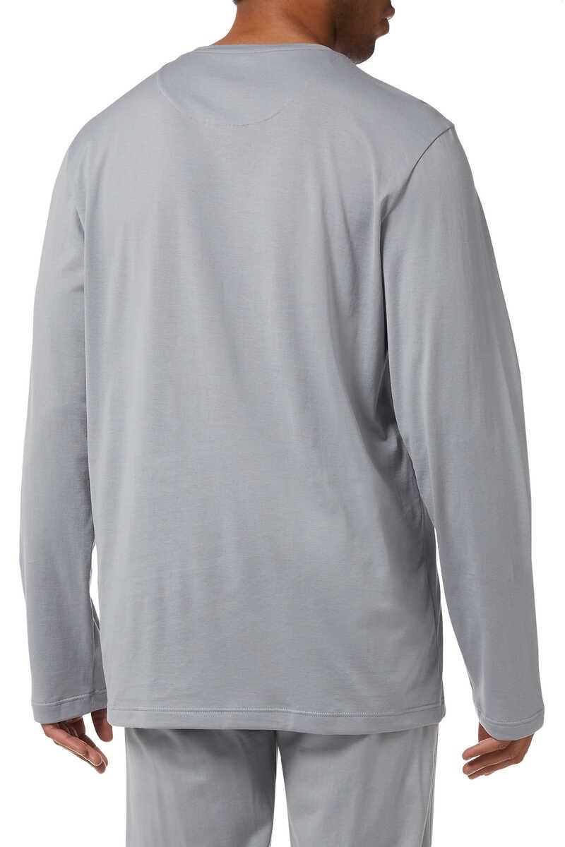 Cotton Blend Pyjama Top image number 2