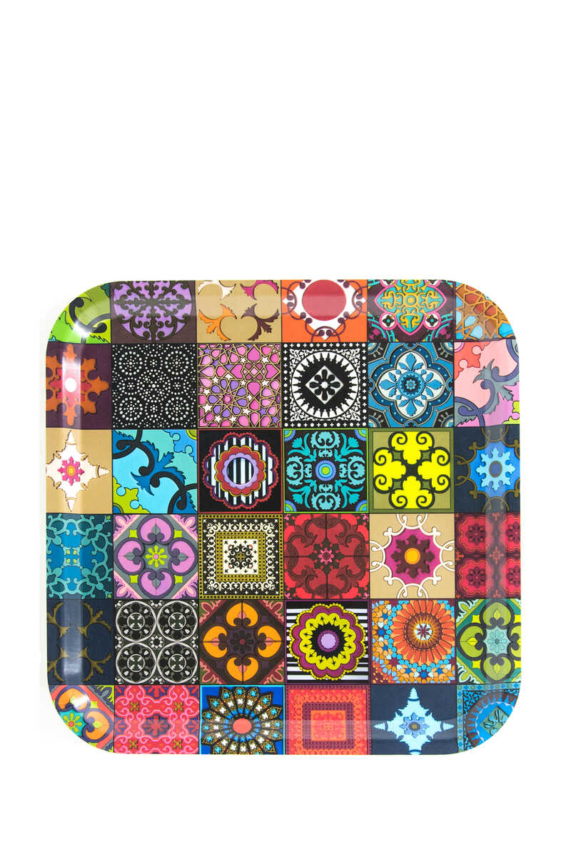 Patchwork Square Tray image number 1