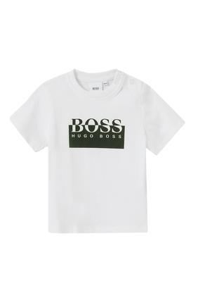 Color-Block Logo Cotton T-shirt