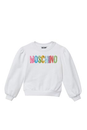 Multi Color Logo Print Sweatshirt